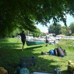 Wasserwanderrastplatz Lübz Aufbruch mit dem Kanu