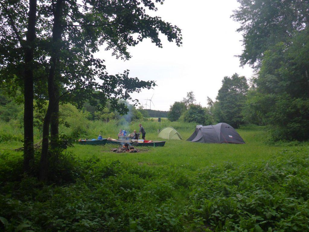Platz zum Zelten bei KM 79