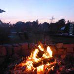 Lagerfeuer am Abend in Garwitz