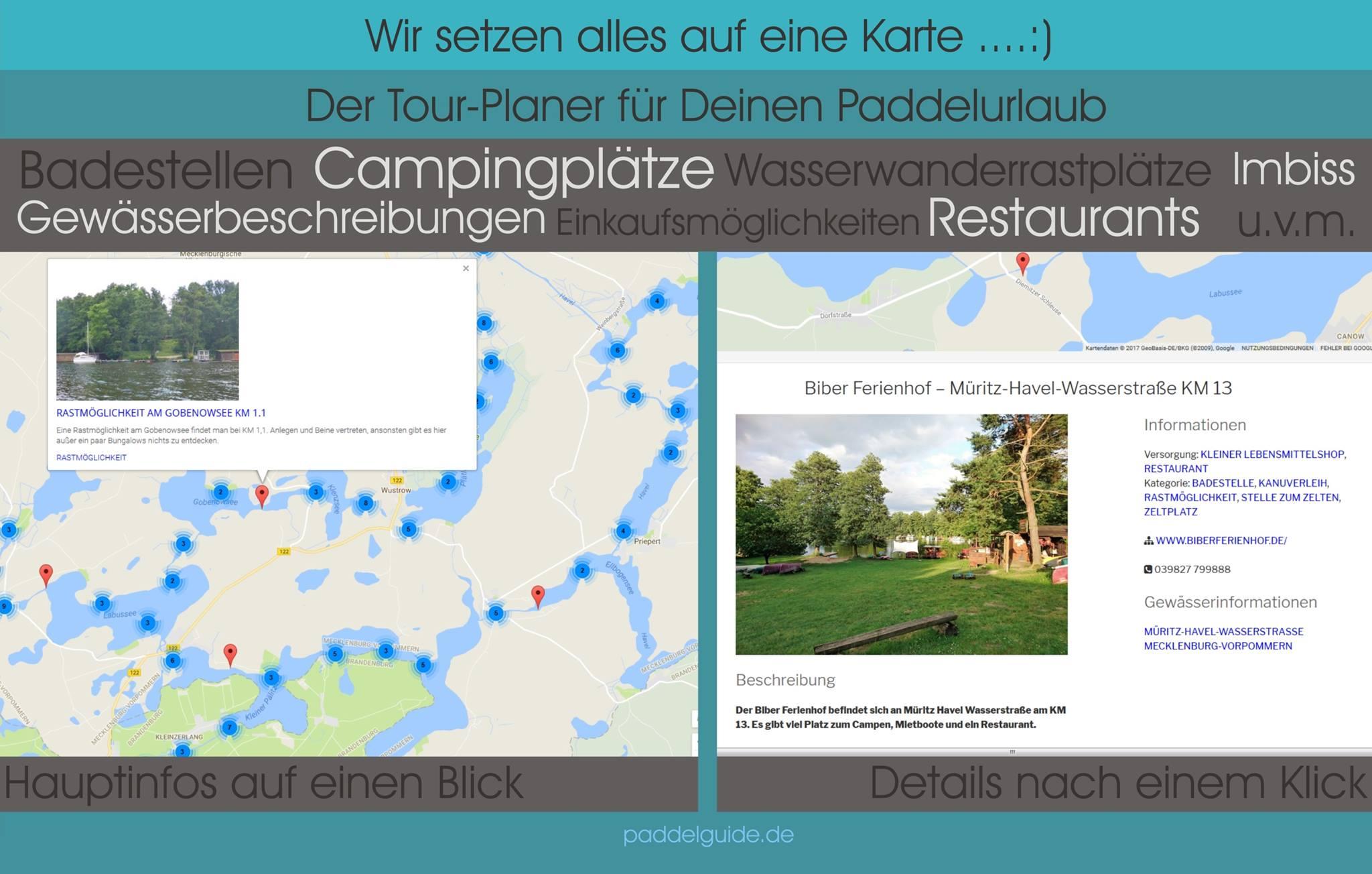 Wasserwandern Mecklenburgische Seenplatte Karte.Wasserwandern In Mecklenburg Vorpommern Paddelguide