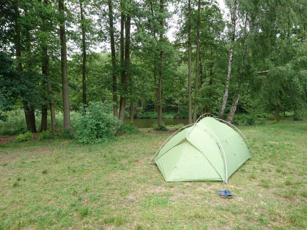 Zelt auf dem Biber Ferienhof